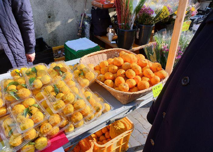 Yuzu and mandarins stall locally produced and very cheap