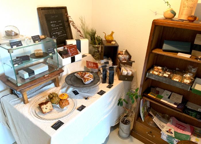 The spread of delicious vegan baked goods at Somi Sweets Vegan Cafe in Nara