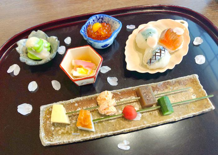 Platter from Michelin Starred Restaurant, Komago in Hyogo Prefecture