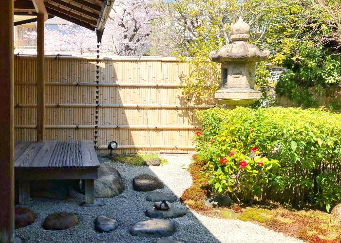 The Japanese garden of Komago, a Michelin restaurant in Hyogo