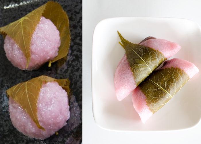 Kansai and Kanto Style Sakura Mochi Comparison