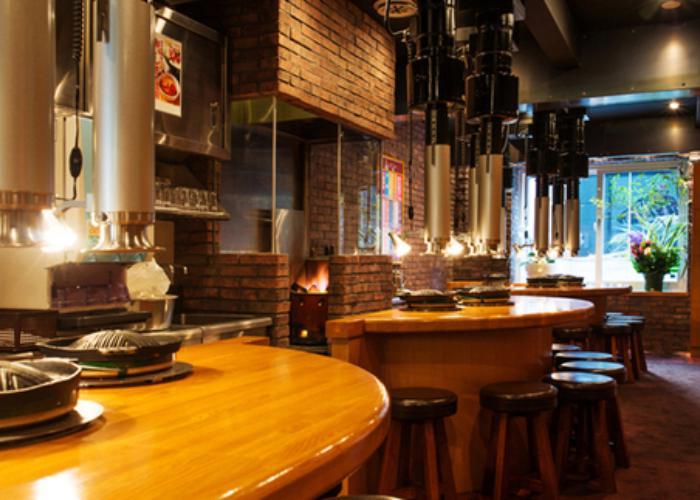 Interior of Daruma Jingisukan, a restaurant in Sapporo