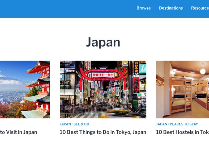 Road Affair Japan Travel Page