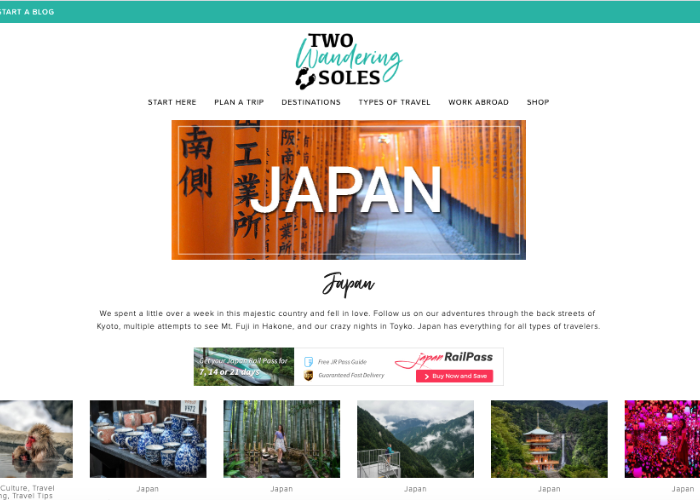 Two Wandering Soles Japan Travel Page for budget travel and planning blog
