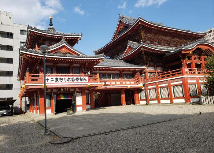 The main building of Osu Kannon Temple in Nagoya
