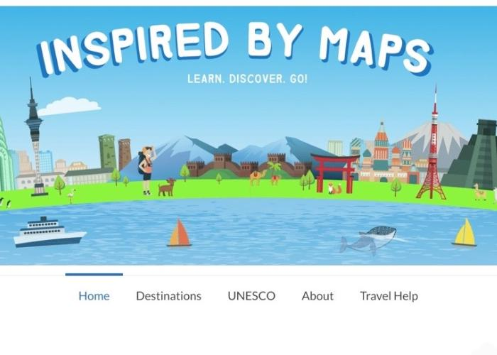 Inspired By Maps' homepage
