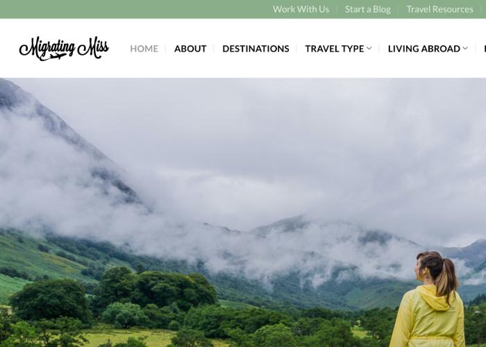Migrating Miss' homepage