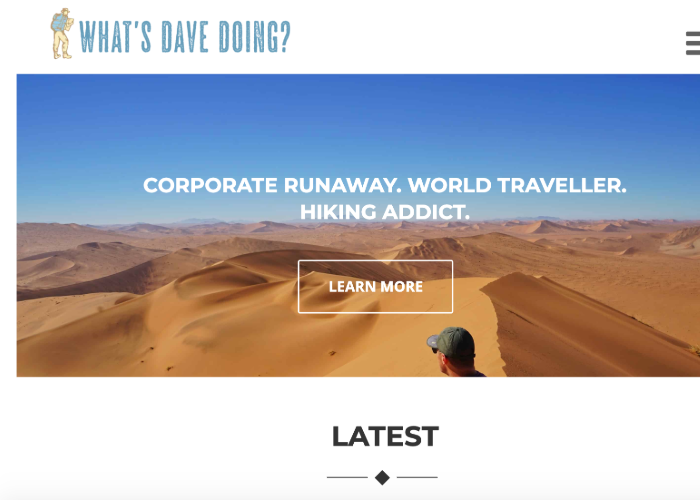 What's Dave Doing's homepage