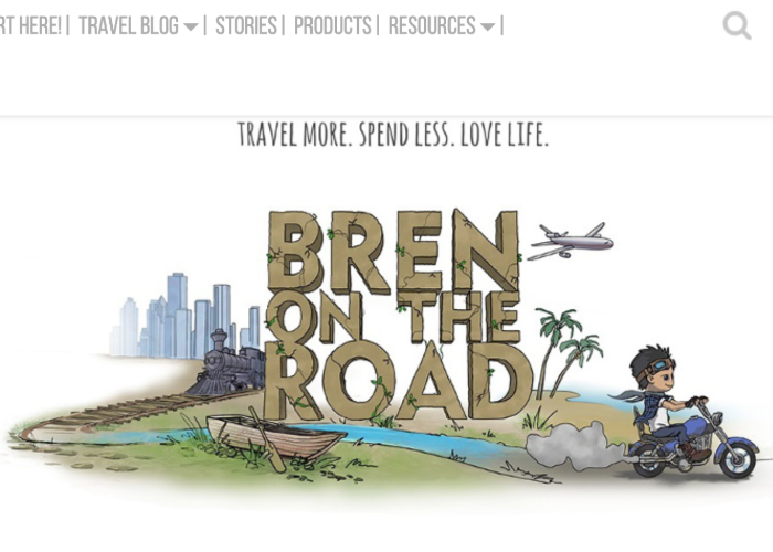Bren on the Road's homepage