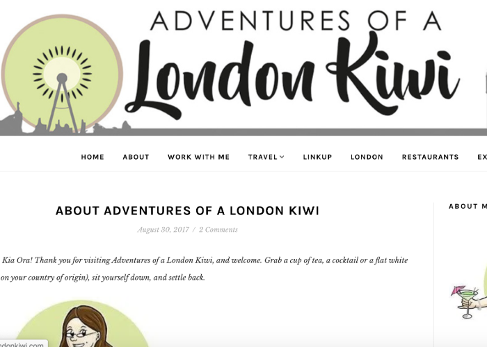 Adventures of a London Kiwi's homepage