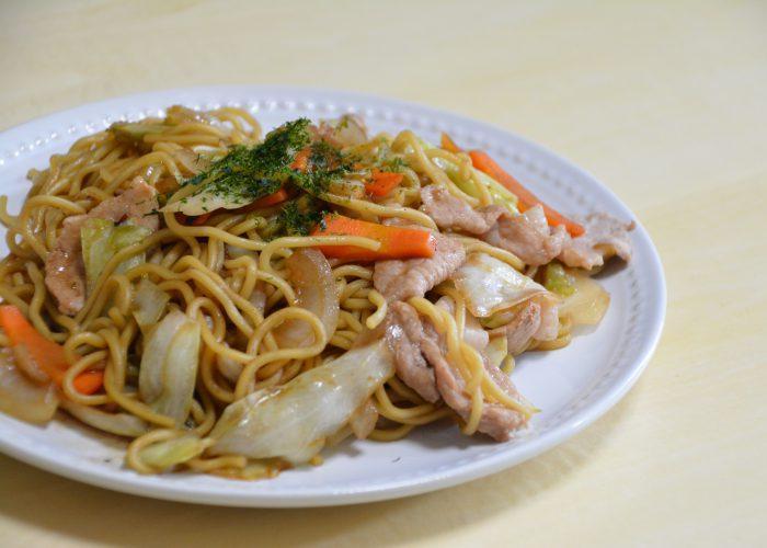 Yakisoba, stir-fried Japanese noodles