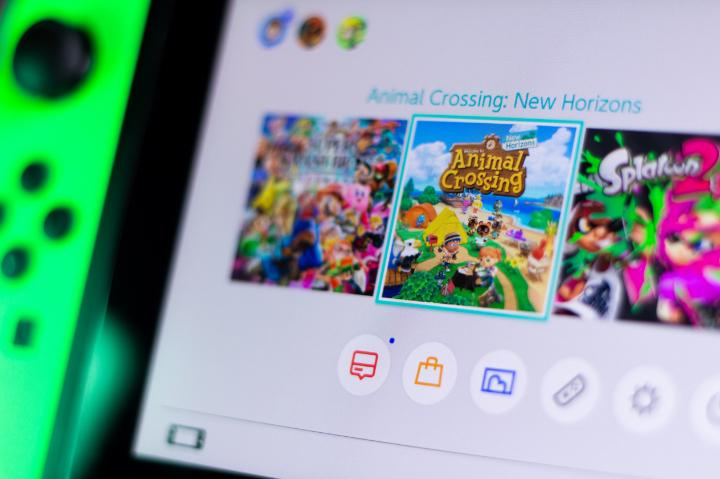 Animal Crossing New Horizons Japanese game on screen