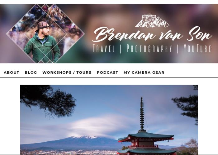 Brendan's Adventures Japan page
