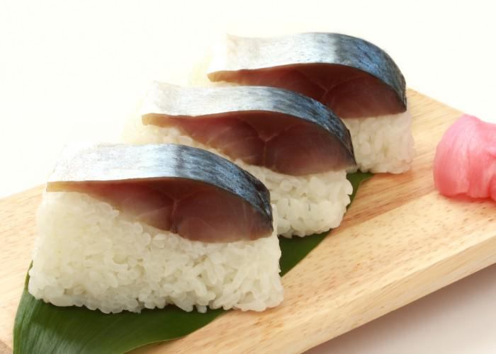 A style of Kyoto sushi called sabazushi, which is made of fermented mackerel