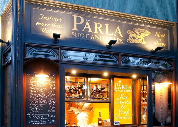 PARLA Shot and Crepe Store exterior in Harajuku