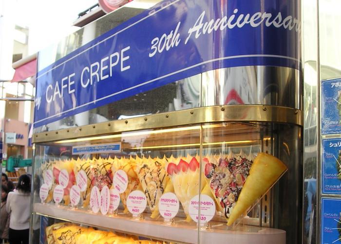 Cafe Crepe in Harajuku