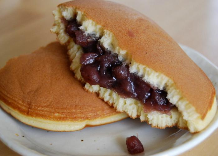 Dorayaki from the Convenience Store with red bean sandwiched between two pancakes