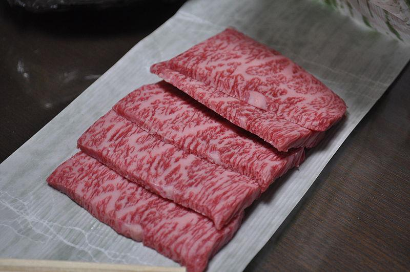 Marbled Japanese wagyu beef