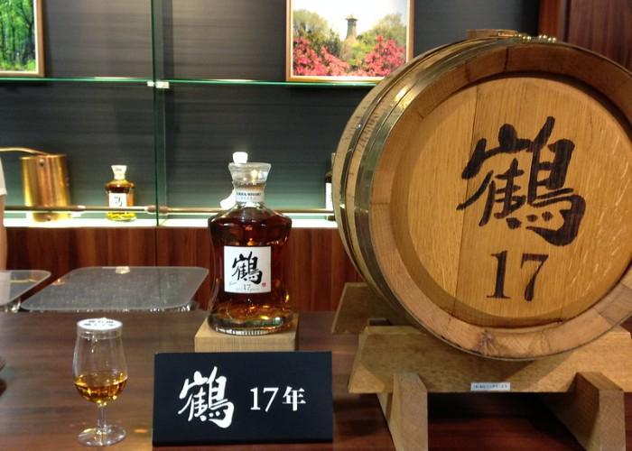 Barrel of Nikka Whisky alongside a glass of whisky