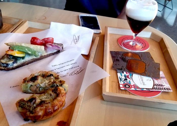 Tarts and open-faced sandwich at Starbucks Reserve Roastery Tokyo