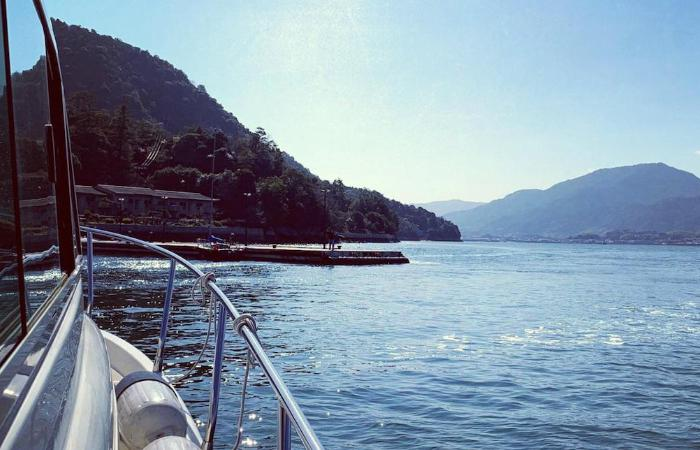 View of the Seto Inland Sea from a boat